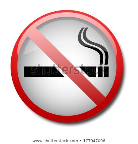 button no smoking 2d Stock photo © mizar_21984