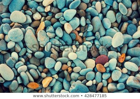 Gyönyörű minta kő part tengerpart víz Stock fotó © meinzahn