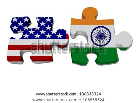 米国 · インド · フラグ · パズル · 孤立した · 白 - ストックフォト © istanbul2009