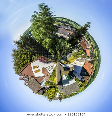 small village of Brandoberndorf with half timbered houses Stock photo © meinzahn