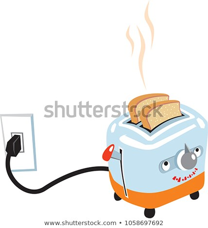 comic cartoon toaster burning toast Stock photo © lineartestpilot