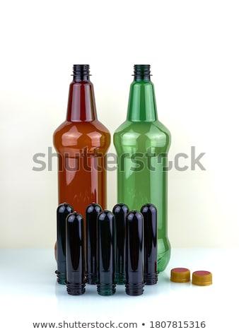 escuro · cerveja · plástico · garrafa · isolado · branco - foto stock © oleksandro