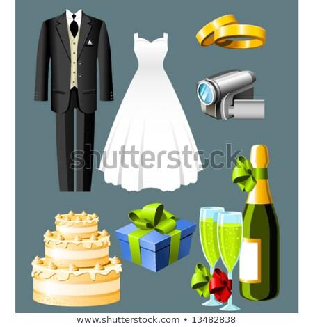 Mariage icônes sept boîte costume Photo stock © Winner