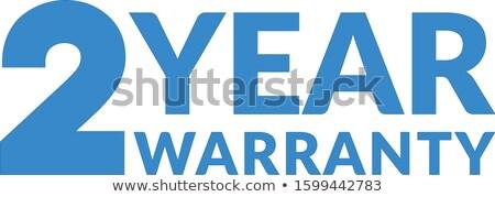 Rok gwarancja niebieski wektora ikona projektu Zdjęcia stock © rizwanali3d