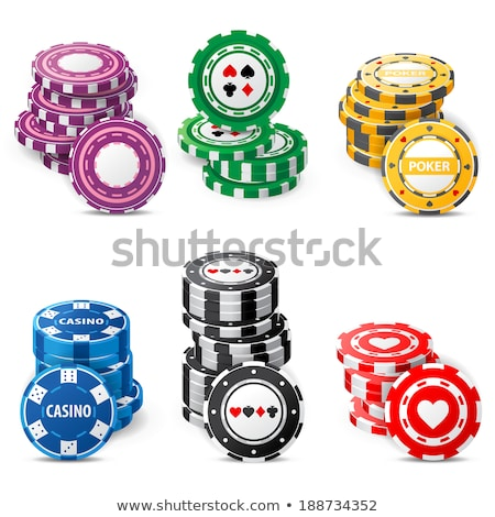 Casino Symbol With Ace Cards Over Roulette Stock photo © mart
