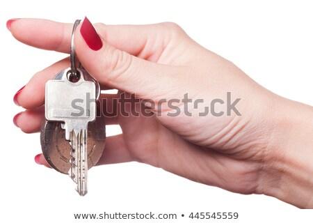 Doigts autour clés de voiture peint Photo stock © juniart