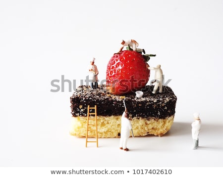 miniature man painting strawberries Stock photo © compuinfoto