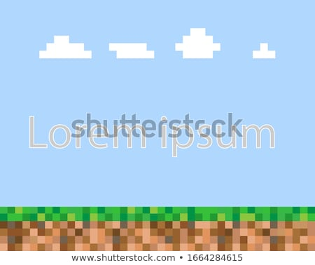 abstract square pixel mosaic background Stock photo © vector1st