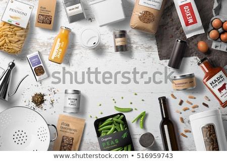 продовольствие пакет зеленый изолированный белый фон Сток-фото © coprid