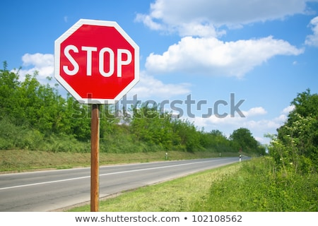 stop sign on sky stock photo © oakozhan