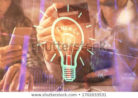 színes · villanykörte · kép · számítógép · rajzok · grafika - stock fotó © wavebreak_media
