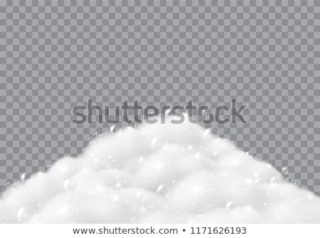 soapy foam texture on black Stock photo © OleksandrO