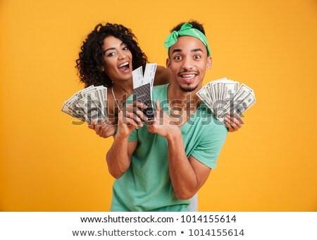 小さな 旅人 お金 幸せ 興奮した ストックフォト © RAStudio