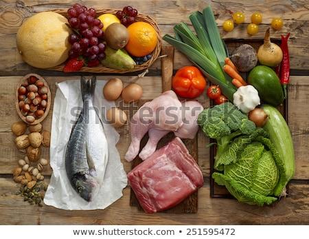 Paleo dieta comida prato Foto stock © Lightsource