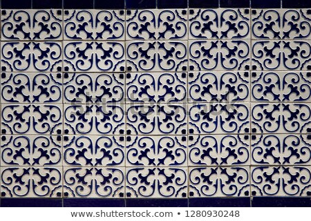 Decorative tiles from building in Santiago Chile Stock photo © boggy