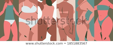 Plus size models concept vector illustration. Stock photo © RAStudio