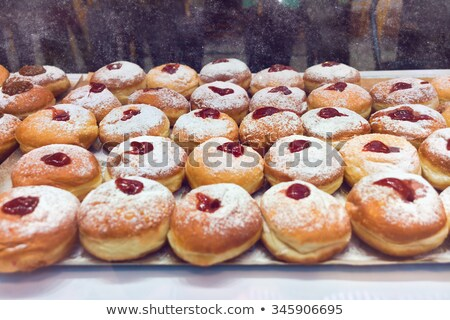 Bunch Of Donuts With Powdered Sugar Stock photo © mpessaris
