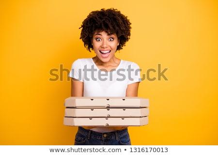 trendy food italian black pizza stock photo © furmanphoto