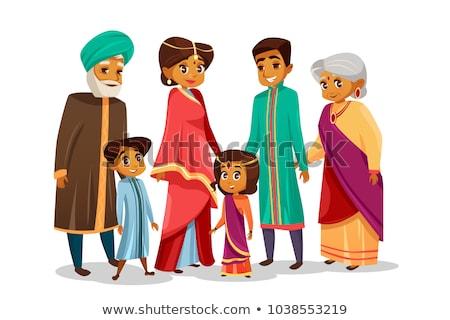 Indian generatie vrouwelijke mensen persoon vector Stockfoto © pikepicture