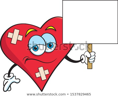 Cartoon bandaged heart stock photo © bennerdesign
