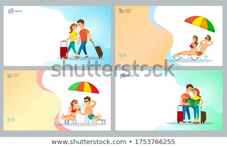 Travel and Rest in Warm Countries Couple Website Stock photo © robuart