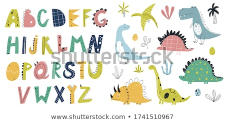 Triceratops dinosaur cartoon hand drawn style Stock photo © amaomam