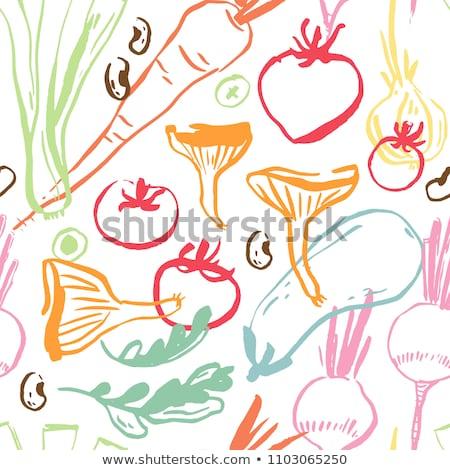 kok · kleurrijk · groenten · koken · grunge - stockfoto © ra2studio