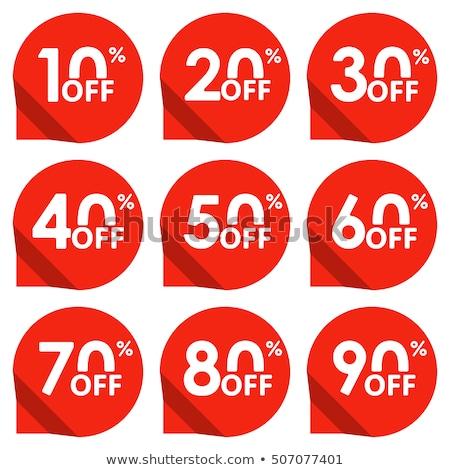 Mitad precio descuento 40 por ciento Foto stock © robuart