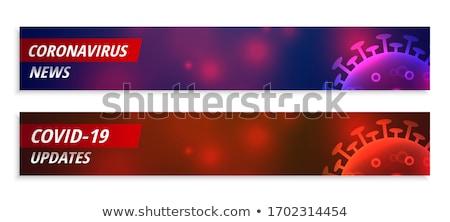 Koronawirus wiadomości szeroki banner zestaw zdrowia Zdjęcia stock © SArts