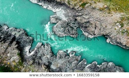 Légifelvétel folyó víz felhők erdő háttér Stock fotó © olira