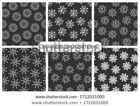 Ingesteld vector donkere naadloos virus patronen Stockfoto © ExpressVectors