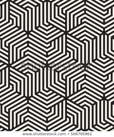 Vettore senza soluzione di continuità disegno geometrico contemporanea piastrelle lineare Foto d'archivio © samolevsky