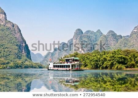 川 山 中国 黒白 水 ストックフォト © craig