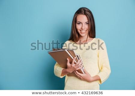 przepiękny · młodych · brunetka · student · dziewczyna · odkryty - zdjęcia stock © lithian