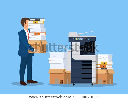 employee holding a stack of files Stock photo © photography33