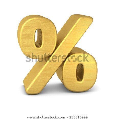 Percent symbol, Gold Stock photo © JohanH