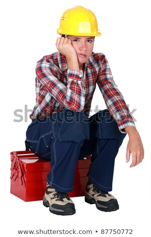 a depressed female construction worker stock photo © photography33