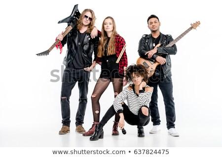 Pesante rock band giocare shot rallentare dell'otturatore Foto d'archivio © sumners