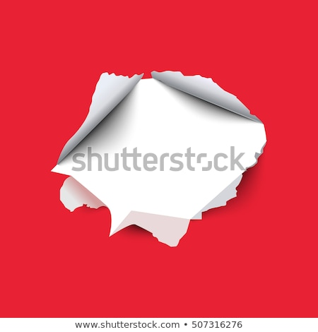 red paper hole with christmas text stock photo © barbaliss