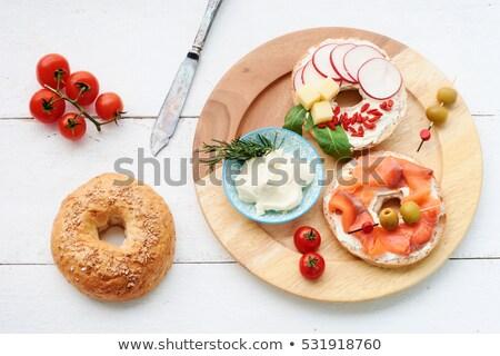 トマト 大根 新鮮な チーズ サラダ 緑 ストックフォト © lunamarina