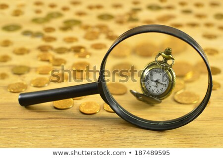 Time for Change - Clock with Shiny Metal Frame stock photo © iqoncept