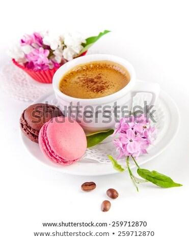 csokoládé · eper · sütik · csésze · kávé · közelkép - stock fotó © Kirill_M