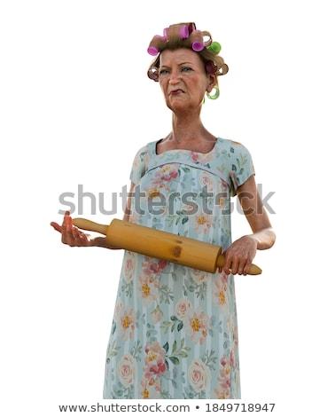 Woman threatening beating someone Stock photo © iko