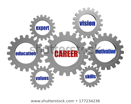 career and conceptual words in silver grey gears Stock photo © marinini