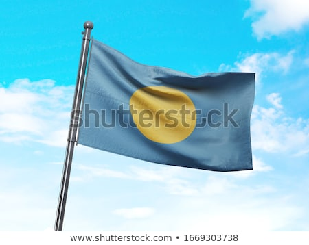 Palau bandeira vetor Foto stock © oxygen64