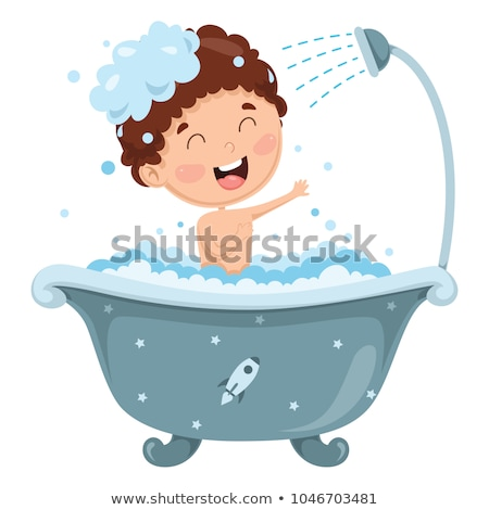 Bathing child.Health and hygiene. Stock photo © fanfo