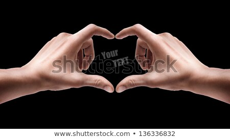 Abstraction in the form of hearts on a black background Stock photo © bendzhik
