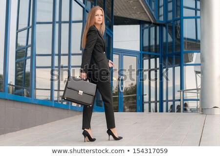 Kobieta interesu teczki biały działalności kobieta Zdjęcia stock © wavebreak_media
