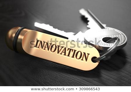 Keys to Innovation. Concept on Golden Keychain. Stock photo © tashatuvango