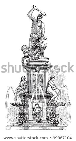 фонтан искусства мышцы власти Европа антикварная Сток-фото © manfredxy